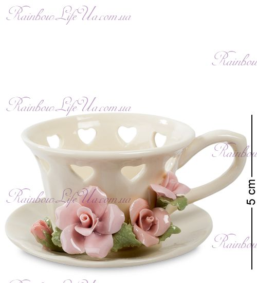 "Подсвечник чашечка с цветами ""Pavone"""