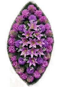 Траурный венок из искусственных цветов - Классика #22