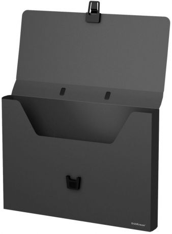 Портфель пластиковый ErichKrause Classic, A4, черный