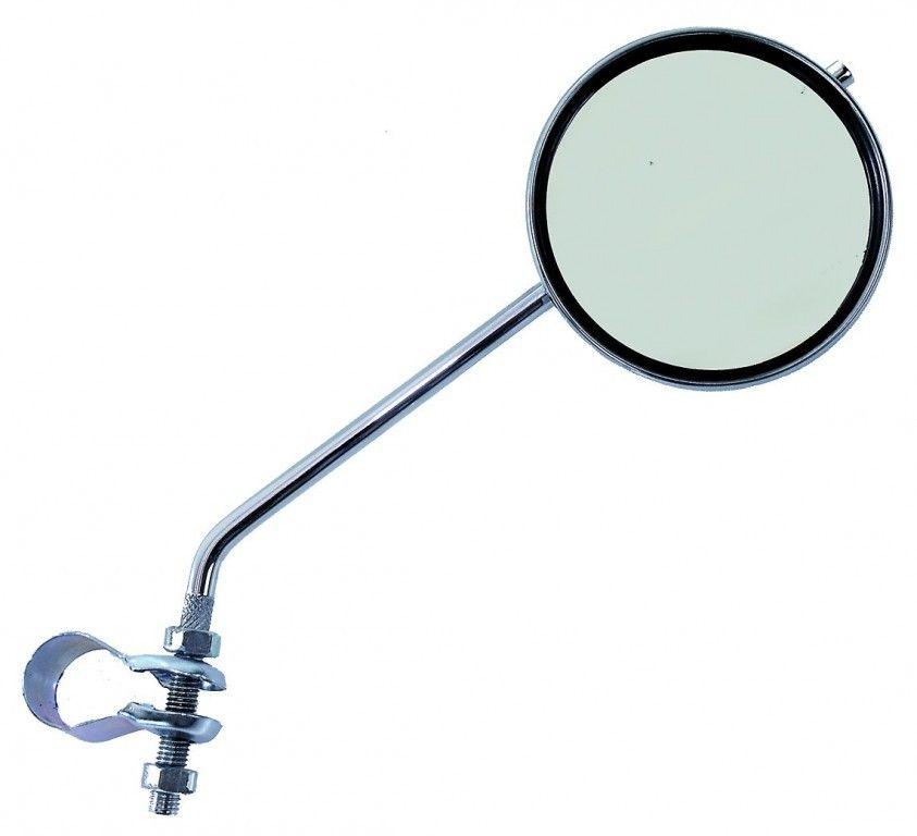 Зеркало плоское круглое с кольцевым креплением 80 мм