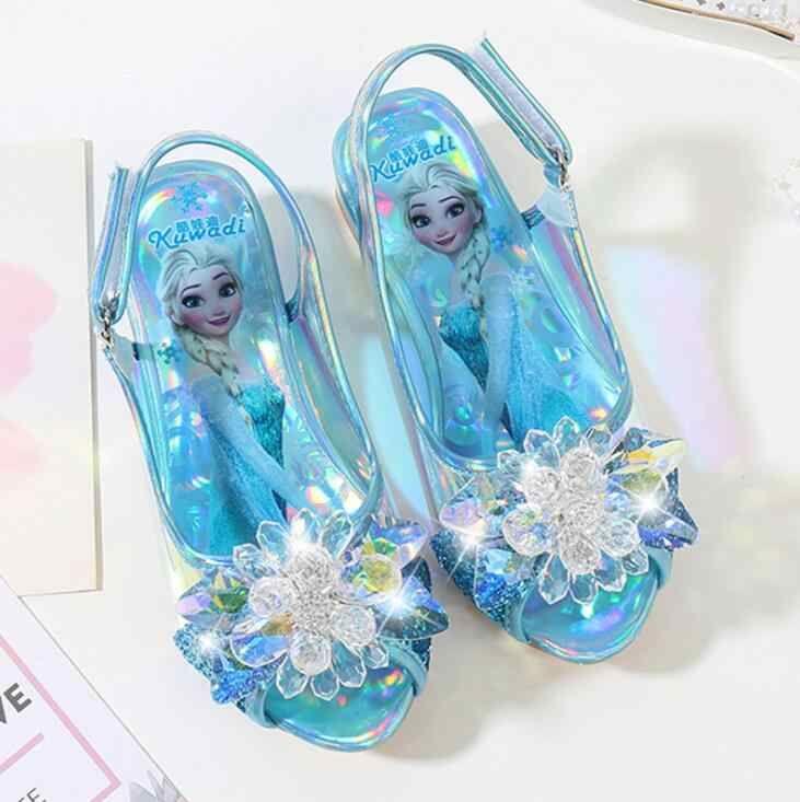 Туфли босоножки Эльзы из мультфильма  Холодное сердце голубые