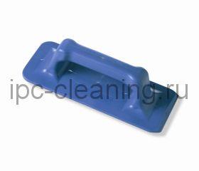 7150011.15 Скрабер с рукояткой 23 см ( голубой)