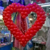 Шар сердце на свадьбу красное