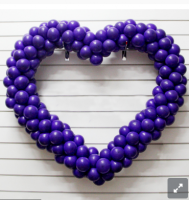 Сердце из шаров,  без каркаса