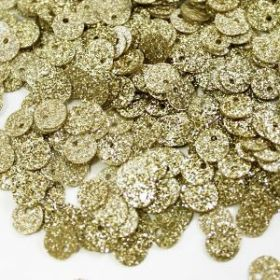 Пайетки круглые с блестками 6 мм, 25 гр золото