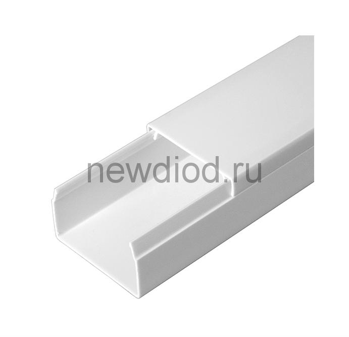 Кабель-канал белый 2-й замок в п/э 60х40 (40м/уп) Промрукав