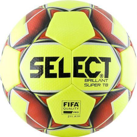 Футбольный мяч Select Brillant Super TB желтый (клееный)