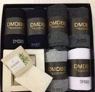 Люкс носки мужские в коробке + МЫЛО в подарок №AF207