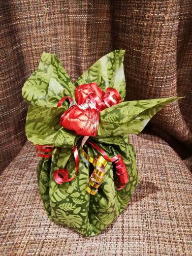 Новогодний мешочек с подарками - подарочный набор с кофе и конфетами