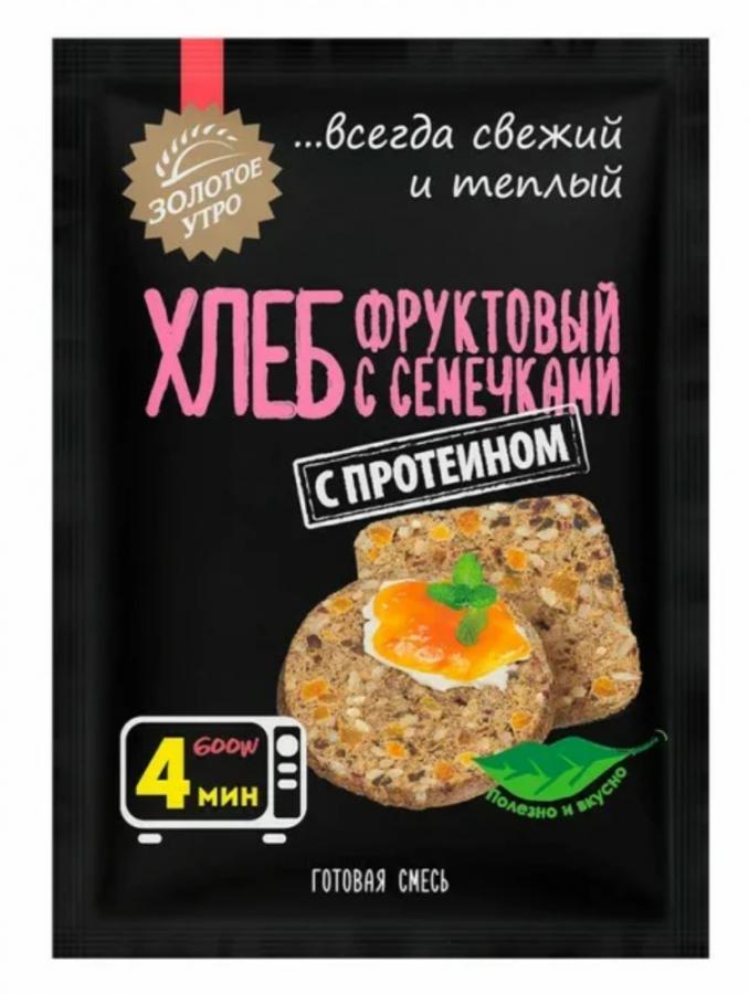 Золотое Утро Смесь для фруктового хлеба с семечками 80 г
