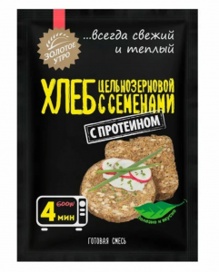 Золотое Утро Смесь для цельнозернового хлеба с семенами 80 г