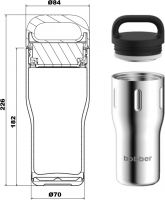 Термокружка bobber Tumbler Handle 470 мл спецификация