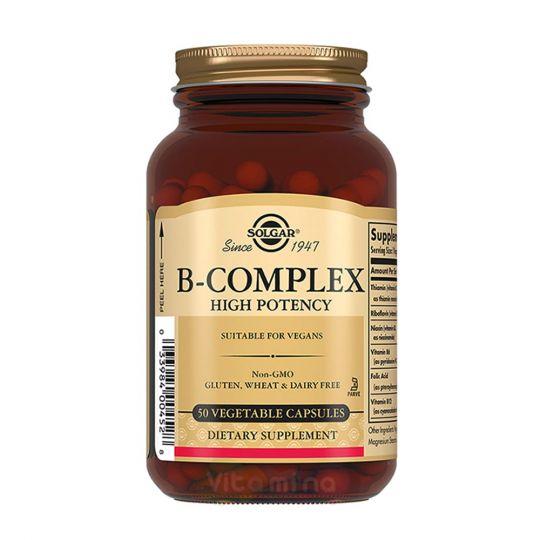 Солгар B-complex Комплекс витаминов группы В, 50 капсул