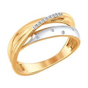 Кольцо из золота с бриллиантами 1011615 SOKOLOV