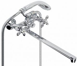 """Смеситель для ванны и умывальника TURBO, 1/2"""", кер., картридж., плоск. излив 325 мм,"""
