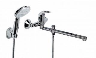 Смеситель для ванны и умывальника KT-OPEN, d-35, штоковый, L-обр. излив 320 мм,