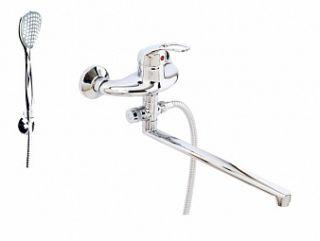 Смеситель для ванны и умывальника OPEN, d-40, картриджный, L-обр. излив 375 мм,