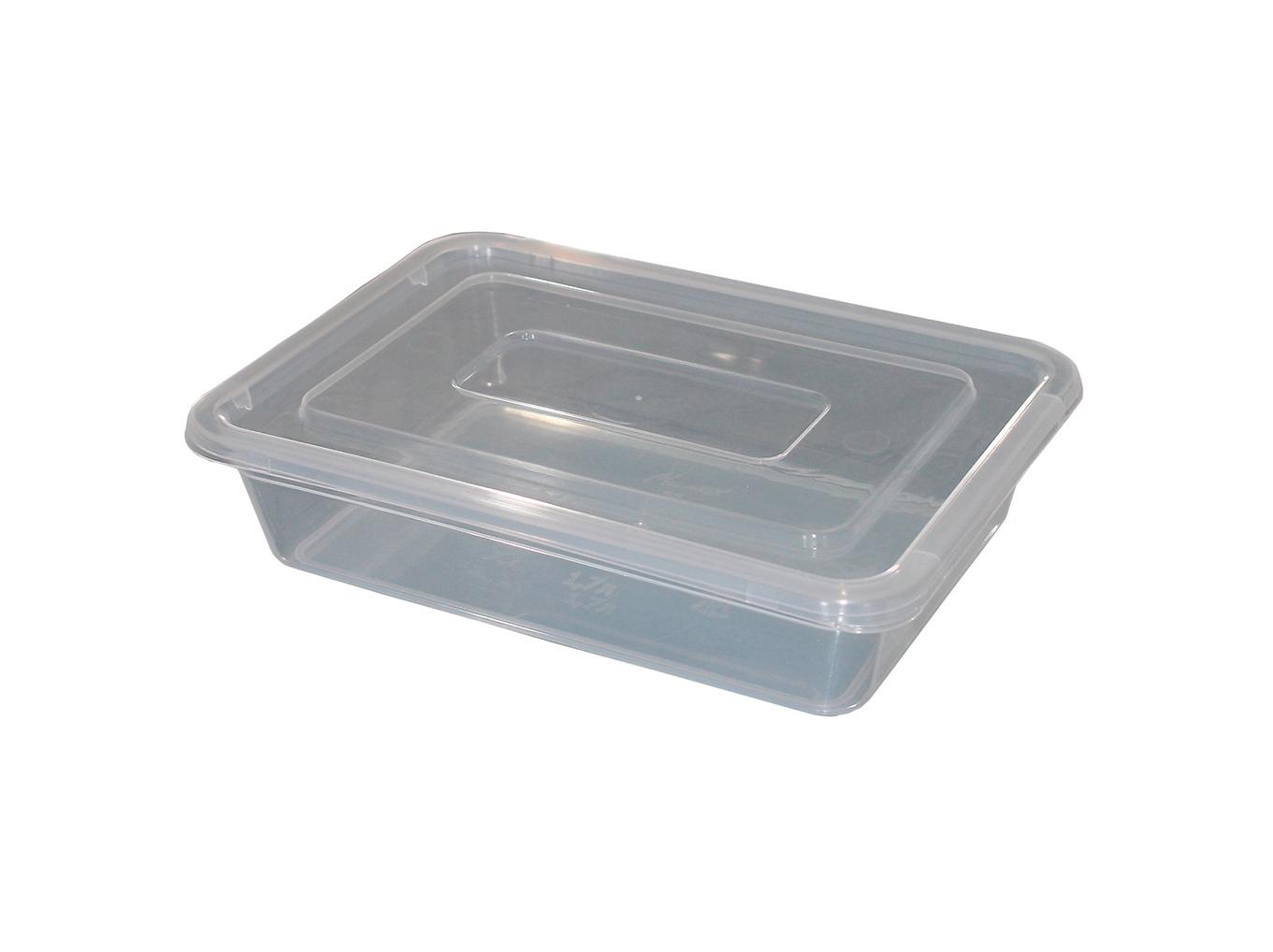 Лоток прозрачный для пищевых продуктов 3л. с крышкой