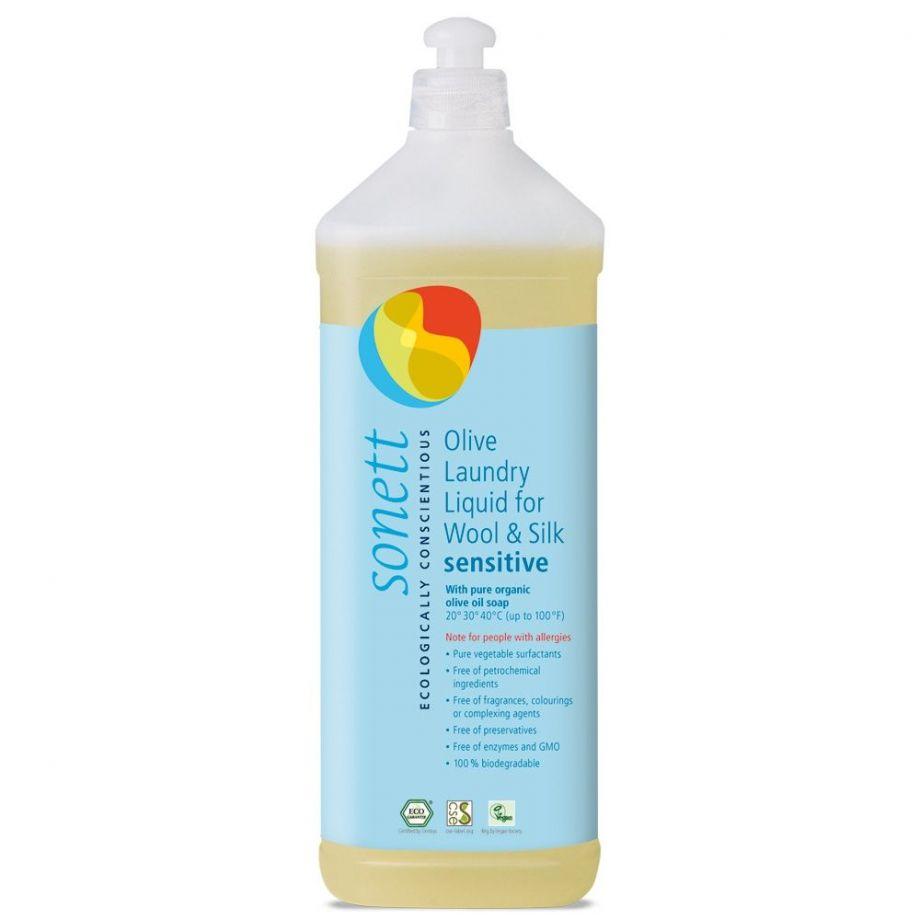 Sonett Жидкое средство для стирки изделий из шерсти и шелка, концентрат, 1 л