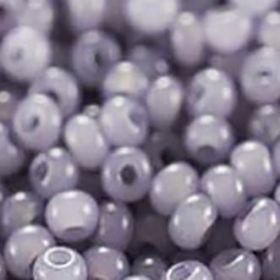 Бисер чешский 02121 непрозрачный серо-фиолетовый алебастровый Preciosa 1 сорт