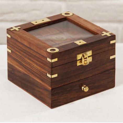 Набор настольных игр 5 в 1 в деревянной шкатулке