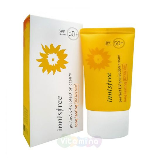Innisfree Солнцезащитный крем для жирной кожи Perfect UV Protection Cream Long Lasting For Oily Skin SPF50+/PA+++, 50 мл