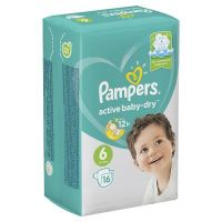 "Pampers ""Active baby-Dry 6"" 16 шт."