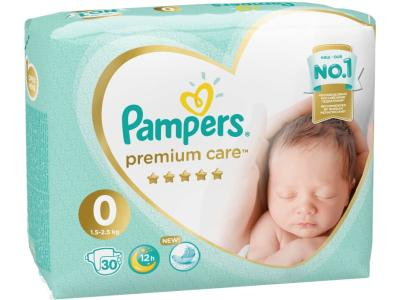 "Pampers ""Premium Care 0"" 30 шт."