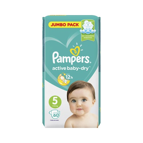 "Pampers ""Active baby-Dry 5""  60 шт."