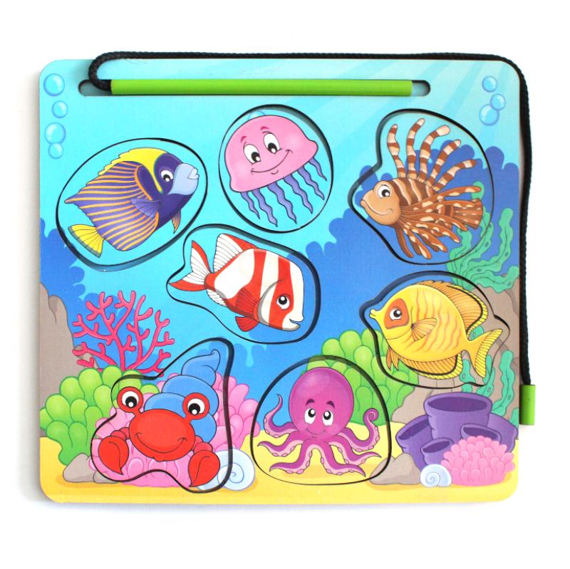 Развивающая игрушка: Магнитная рыбалка  «Океан»