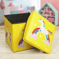 Детский складной пуф-короб для хранения 2 в 1, 29х30х30 см