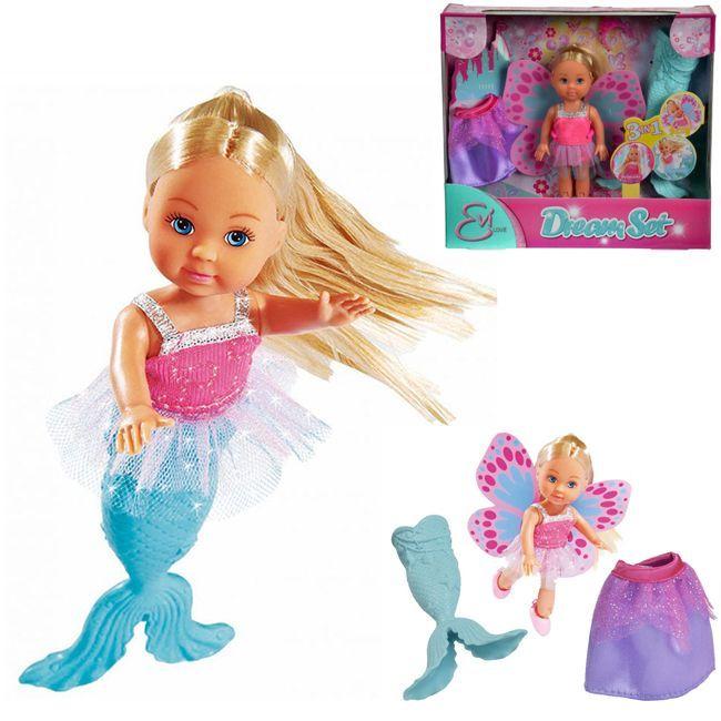 ЕВИ Кукла в 3 образах: русалочка, принцесса, фея