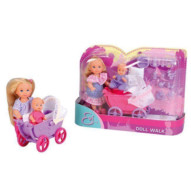 ЕВИ Кукла с малышом на прогулке