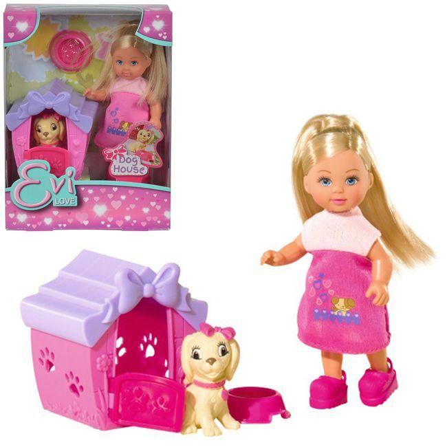 ЕВИ Кукла с собачкой в домике