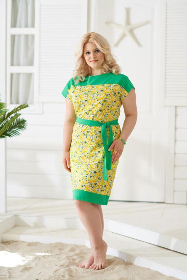 Платье арт.0912 желтое, кулирка