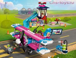 Конструктор LELE Friends Экскурсия по Хартлейк-Сити на самолёте 37096 (Аналог Lego Friends 41343) 340 дет