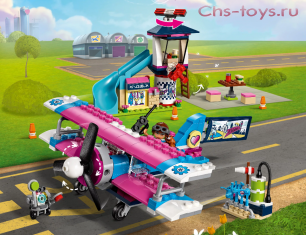 Конструктор Lepin Girls Club Экскурсия по Хартлейк-Сити на самолёте 01073 (Аналог Lego Friends 41343) 362 дет