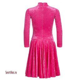Бархатное платье для танцев малиновое