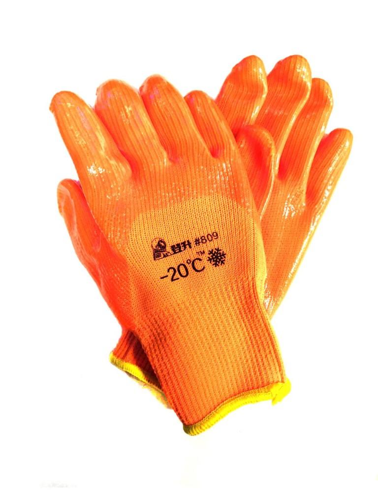 Зимние рабочие перчатки с поливинилхлоридным покрытием