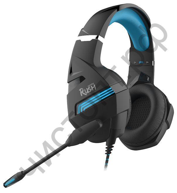 Гарнитура (науш.+микр.) Smartbuy RUSH DESTROYER, динамики 50мм, гибкий микрофон, черн/синяя (SBHG-9000)