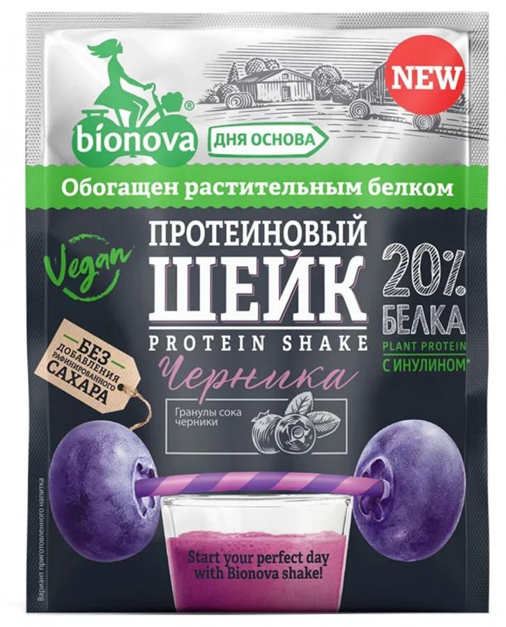БИОНОВА Шейк протеиновый с черникой 25 г