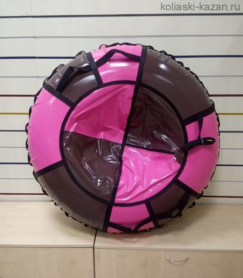 Тюбинги 110 см в ПВХ взрослым и детям коричнево розовые (4 ручки)