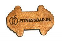 Деревянный бейдж тематика фитнес
