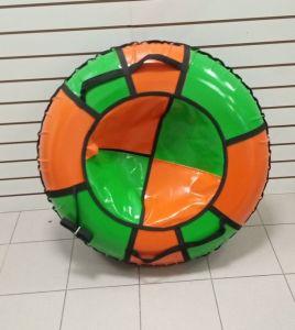 Тюбинги 110 см ПВХ взрослым и детям оранж зеленые (4 ручки)