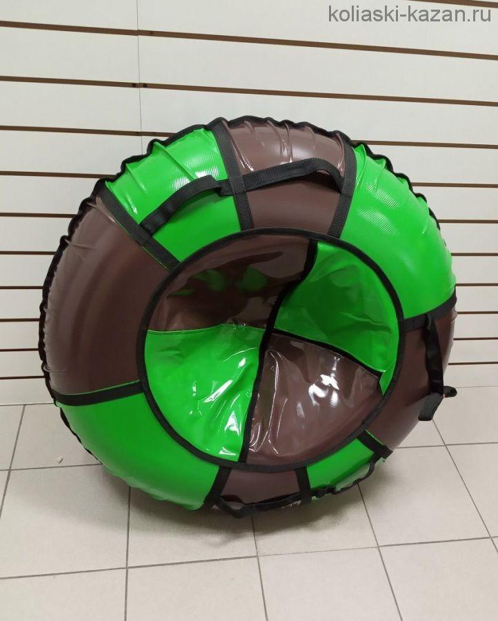 Тюбинги 110 см ПВХ взрослым и детям коричнево зеленые (4 ручки)