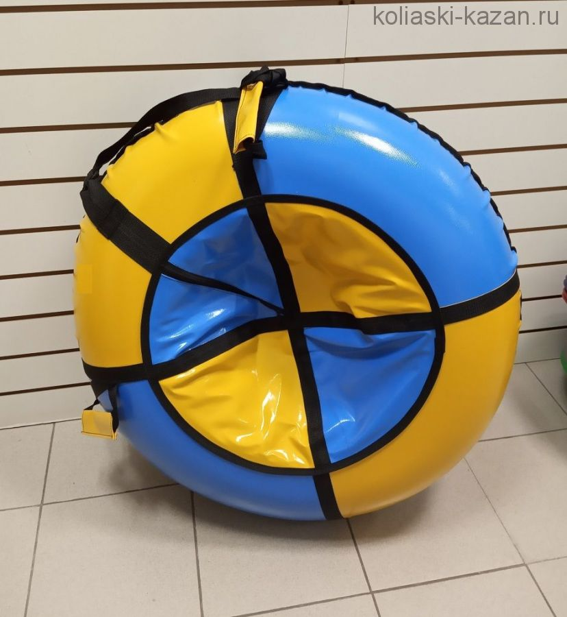 Тюбинг 100 см ПВХ сине желтые