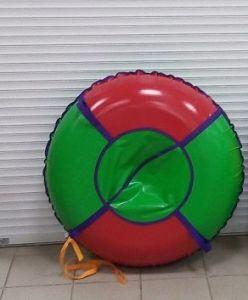 Тюбинг 110 см ПВХ красно зеленые