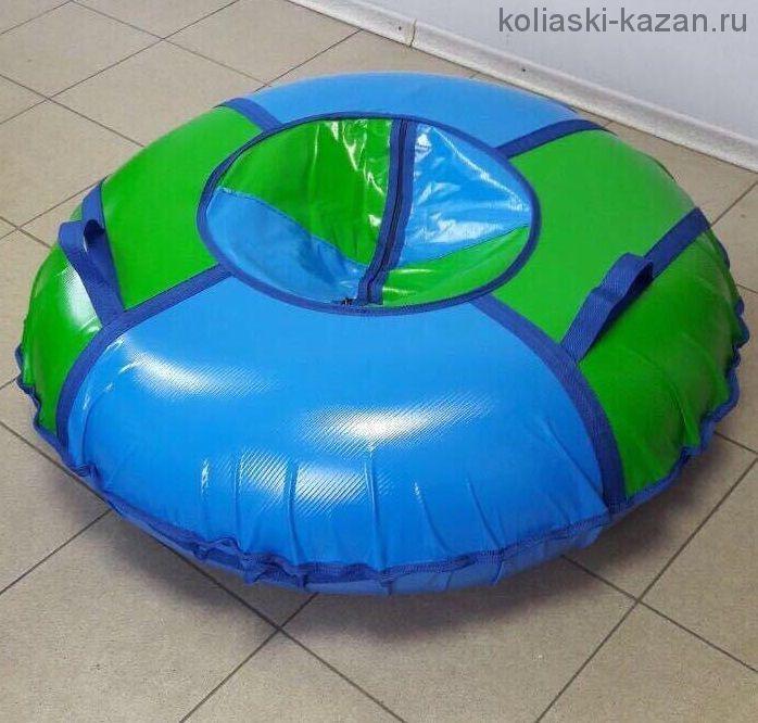 Тюбинг 110 см ПВХ сине зеленые