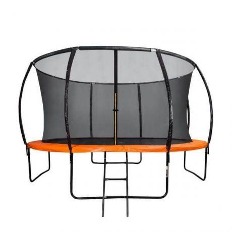 Оранжевый батут с сеткой DFC KENGOO 12FT-TR-E-BAS