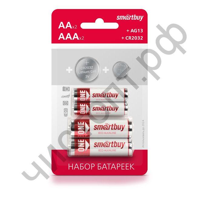 Комплект батареек MIX PACK LR6 и LR03 по 2шт, CR2032A и G13 по 1шт (SBBM-6B) цена за набор 6шт.